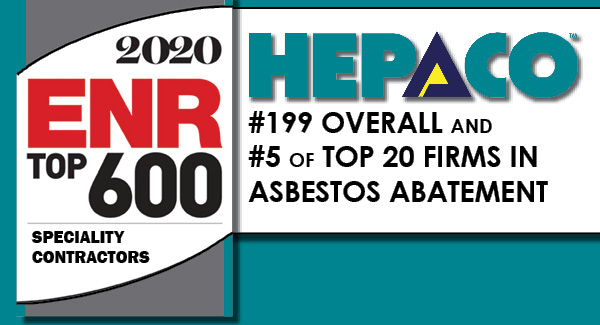 EXCITING NEWS! HEPACO RANKS #199 ON ENR's TOP 600 LIST!